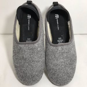 Mahabis Classic Slippers Grey Wool Lined 39 or 8